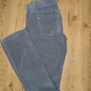 White House Black Market Grey Corduroy Pants